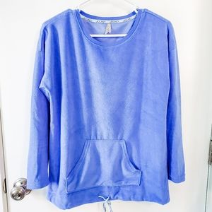 Jockey Drawstring Periwinkle Lounge Top